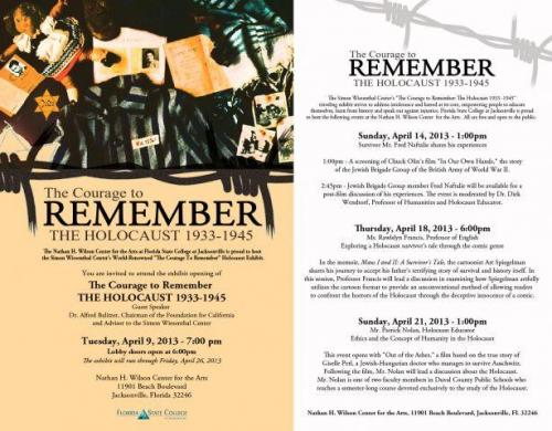 a courage to remember the holocaust eblast  main